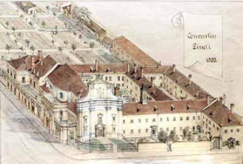 Das Bild zeigt eine Ansicht der Kirche aus dem Jahr 1893